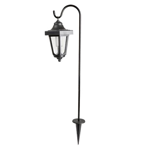 garden solar led black hanging coach lanterns 2 pack