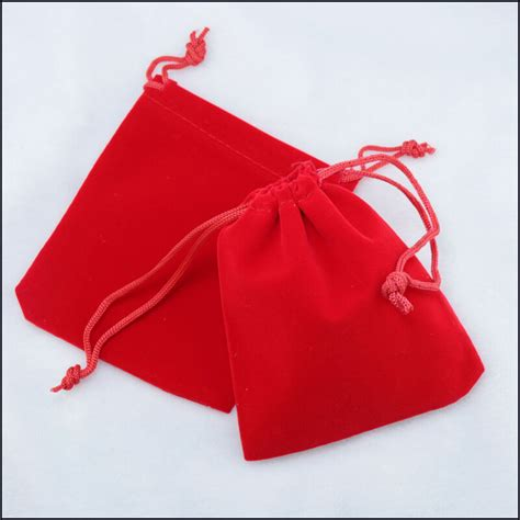 lot     red   jewelry pouches velvet gift