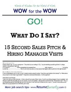 recommended pitch for resume wow for the wow search skills resume butterfly go 15 second sales pitch resume
