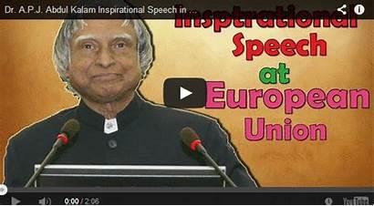 Kalam Abdul Speech Dr Inspirational Apj European