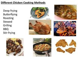chicken cooking types  methods teaching resources