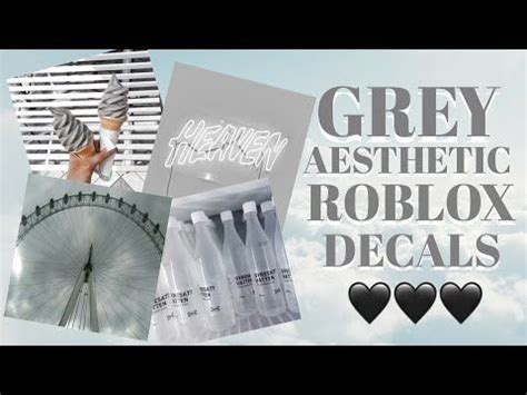grey aesthetic roblox decals roblox bloxburg youtube