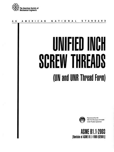 ASME B1.1-2003 PDF