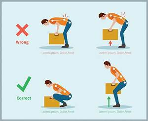 Correct Posture To Lift A Heavy Object Safely Illustration