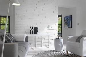 Parement Bois Adhesif : les 20 meilleures images du tableau inspiration le blanc ~ Premium-room.com Idées de Décoration