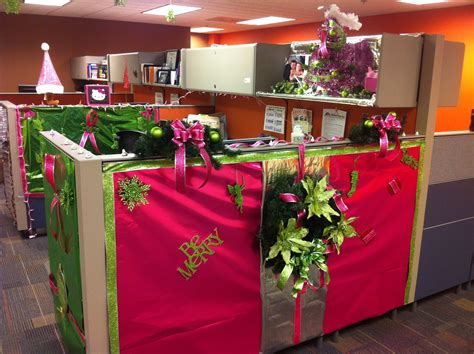 Office Cubicle Christmas Decorating Ideas Styles