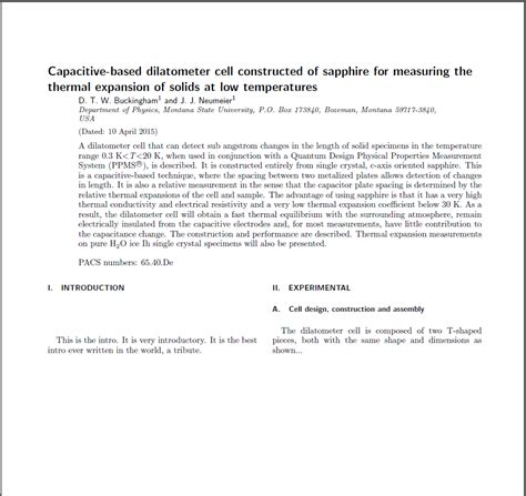 Abstract Template Compiling Revtex4 Aip Review Of Scientific Instruments