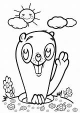 Gopher Coloring sketch template