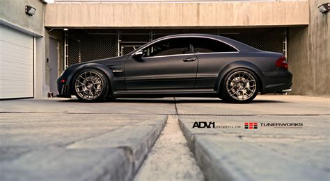 Mercedes Amg Clk 63 Black Series Adv 1 Wheels by Mercedes Clk63 Amg Black Series Gets The Matte Black
