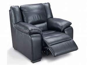Fauteuil Electrique Conforama : fauteuil relaxation lectrique en cuir saturday coloris anthracite vente de tous les fauteuils ~ Teatrodelosmanantiales.com Idées de Décoration