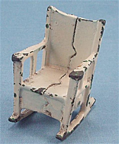 kilgore cast iron dollhouse furniture rocker rocking