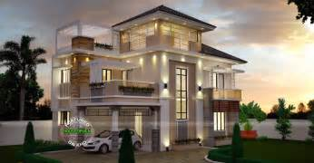 home design by unusually modern three storey house home design