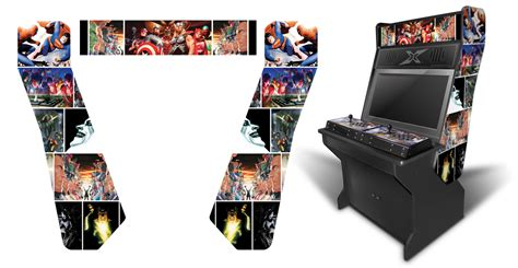 xtension arcade cabinet graphics 187 customer submitted comic book inspired graphics