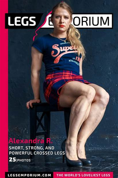 Legs Powerful Alexandra Crossed Strong Short Emporium
