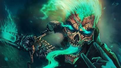 Skull Evil Dark Skeleton Skulls Horror Artwork