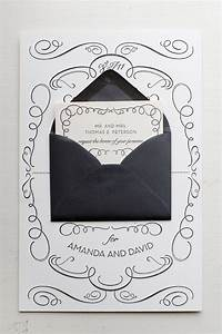 amanda david39s whimsical accordion fold wedding invitations With wedding invitation fold out envelope