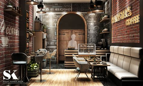 mini coffeeshop design  behance