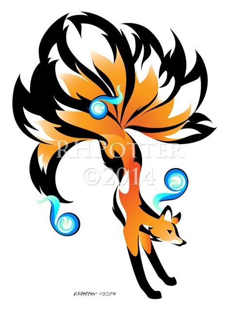kitsune tattoo bi zorro fox drawings rhpotter tattoos anime animal deviantart kyuubi designs mitologia japonesa drawing nine tailed spirit kawaii