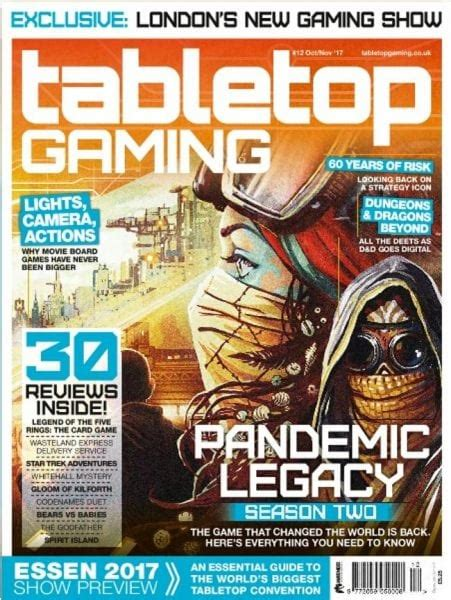 tabletop gaming october november