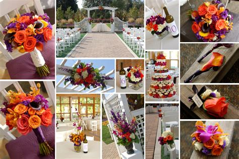 Purple & Fall Wedding Colors