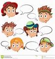 I Fronti Dei Bambini Con I Fumetti Illustrazione ...