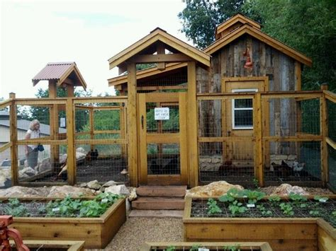 awesome chicken coops awesome chicken coop and garden garden pinterest gardens raised beds and vegetables