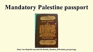 Mandatory Palestine passport - YouTube