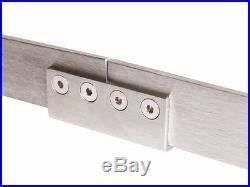 8ft retro double sliding barn door hardware stainless With brushed nickel barn door handle