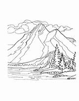 Coloring Mountains Pages Mountain Nature Range Colouring Printable Bestcoloringpagesforkids Sheets Easy Template Cartoon Adult Sketch Templates sketch template