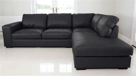 Cheap Leather Corner Sofas Uk by 15 Collection Of Large Black Leather Corner Sofas