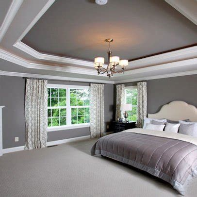 Tray Ceilings Paint Ideas - tray ceiling bedroom on cherry sleigh bed