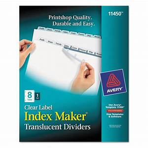 ave11450 avery index maker print apply clear label With clear labels for label maker