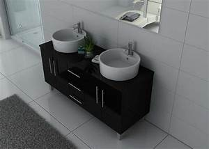 awesome vasque salle de bain noir contemporary awesome With meuble vasque salle de bain 60 cm largeur