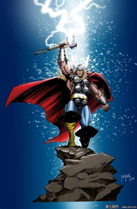 漫画英雄人物插画 雷神托尔mighty thor 8 插画设计作品 第七城市