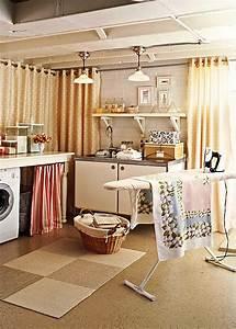 Basement laundry room makeover decoist for Basement laundry room makeover ideas
