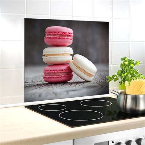 protection murale cuisine protection murale en verre macarons wenko protection
