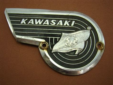 1960's Vintage Kawasaki Motorcycle Gas Tank Emblem