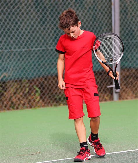 Red Pablo Boys Tennis Outfit - Boys Tennis Apparel by Zoe Alexander