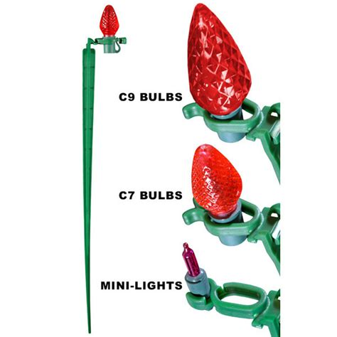 tall christmas light stakes 8 in light stakes pack of 25