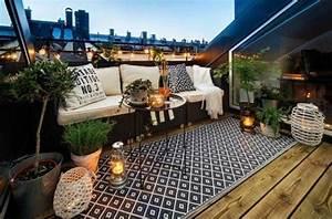 1001 unglaubliche balkon ideen zur inspiration With balkon teppich mit eigenes foto als tapete