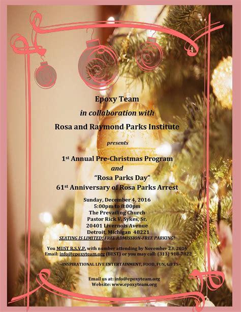 1st Annual Pre Christmas Program Rosa Parks