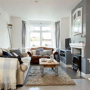 Cosy, Grey, And, White, Living, Room