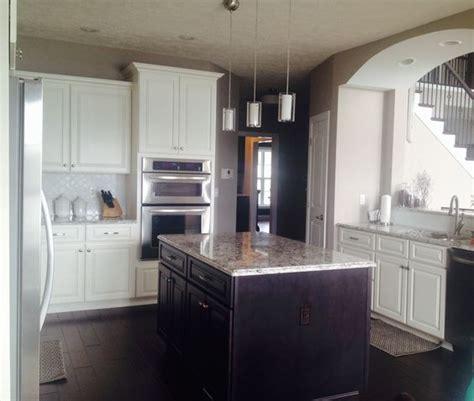 white  espresso kitchen cabinets classic modern
