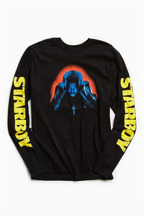weeknd starboy photo long sleeve tee urban outfitters