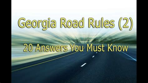 Georgia Permit Test - 20 Questions You Must Know - YouTube