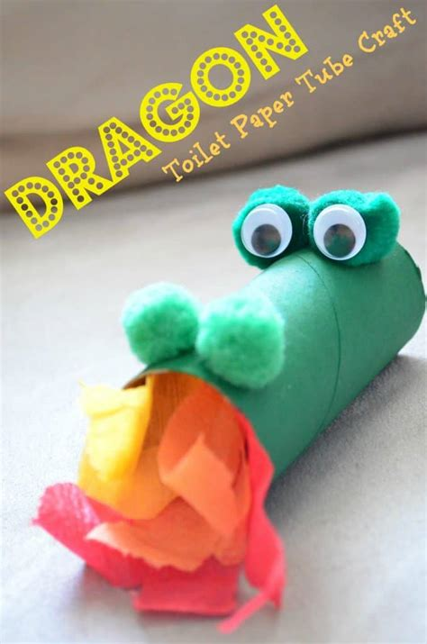 toilet paper craft lunar new year 611   Dragon Toilet Paper Tube Kids Craft 678x1024