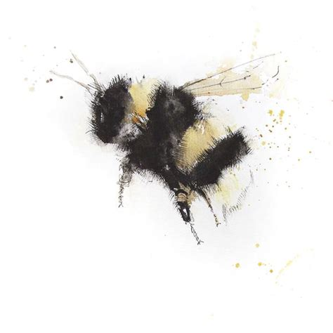 signed print bumble bee