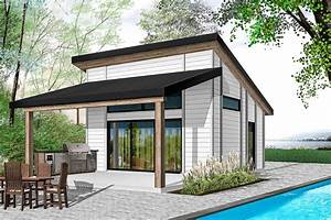 Plan, 22481dr, One, Bed, Modern, Tiny, House, Plan, In, 2021