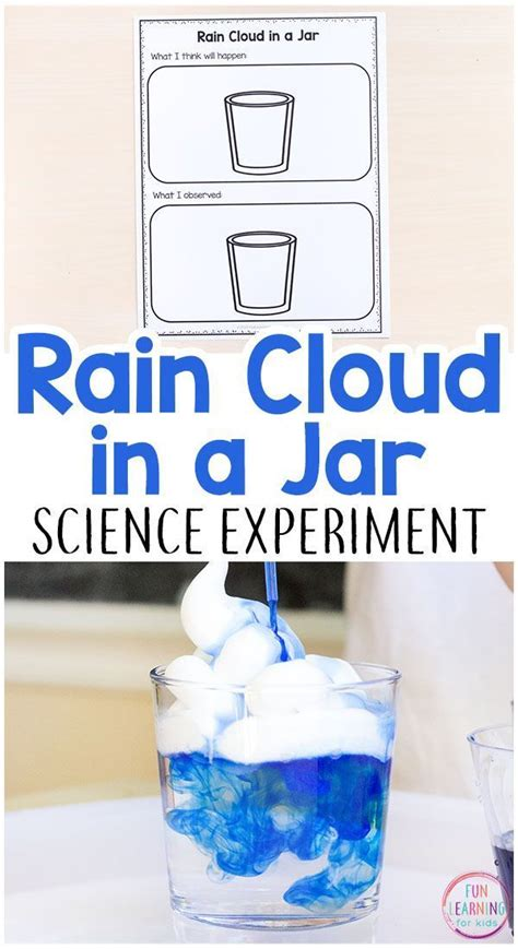 rain cloud   jar science experiment  printable