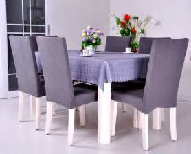Grey Dining Room Chair Covers dining room jacquard oil proof poyester spandex fabric